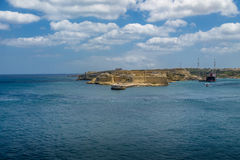 Grand Harbour and Ricasoli Fort in Kalkara - Valletta, Malta Royalty Free Stock Images