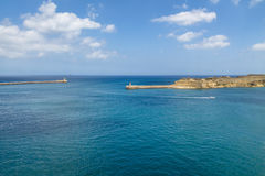 Grand Harbour and Ricasoli Fort in Kalkara - Valletta, Malta Royalty Free Stock Photography