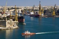 Grand Harbour in Valletta - Malta royalty free stock photo