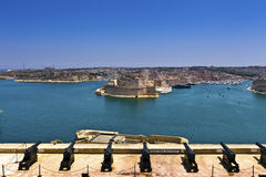 Grand Harbour in Valletta, Malta. Stock Photo