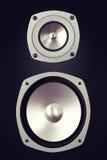 Grand haut-parleur bruyant stéréo audio bi-directionnel Image libre de droits