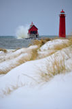 Grand Haven Light House royalty free stock images