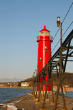 Grand Haven Light house Royalty Free Stock Photography
