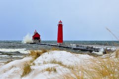 Grand Haven Light House Stock Image