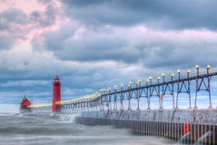 Grand Haven Lighthouse Royalty Free Stock Images