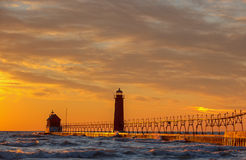 Grand Haven Lighthouse Stock Photography