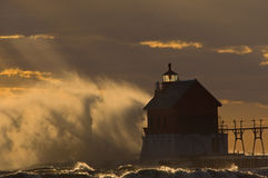 Grand Haven Lighthouse Stock Image