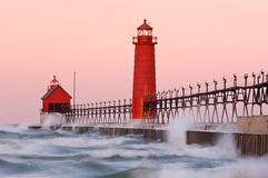 Grand Haven Lighthouse stock images