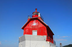Grand haven Michigan light house Stock Images