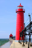 Grand Haven South Pierhead Inner Light, built in 1905 Royalty Free Stock Photos