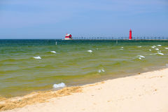 Grand Haven South Pierhead Inner Light, built in 1905 Stock Photos