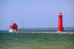 Grand Haven South Pierhead Inner Light, built in 1905 Royalty Free Stock Photography