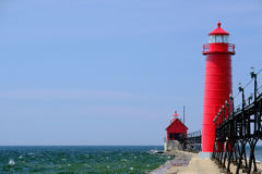 Grand Haven South Pierhead Inner Light, built in 1905 Royalty Free Stock Photo
