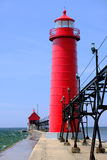 Grand Haven South Pierhead Inner Light, built in 1905. Lake Michigan, MI, USA stock image