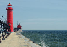 Grand Haven South Pierhead Inner Light, built in 1905 Royalty Free Stock Image