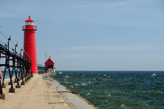 Grand Haven South Pierhead Inner Light, built in 1905 Stock Photography
