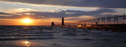 Grand Haven South Pierhead Lighthouse Royalty Free Stock Photography
