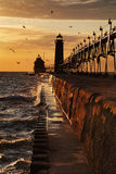 Grand Haven South Pierhead Lighthouse Royalty Free Stock Image