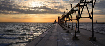 Grand Haven South Pierhead Lighthouse Stock Photography