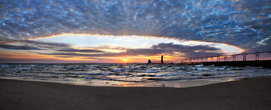 Grand Haven South Pierhead Lighthouse Royalty Free Stock Photo