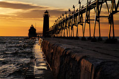 Grand Haven South Pierhead Lighthouse Stock Image