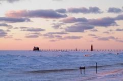 Grand Haven Sunset Royalty Free Stock Image