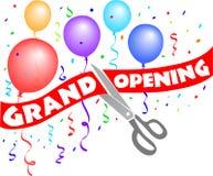 Grand het Openen/Lint Cutting/e royalty-vrije illustratie