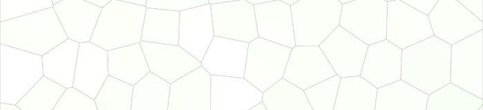 Grand hexagone coloré gris-clair dans l'illustration de fond de forme de bannière illustration libre de droits