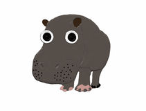 Grand hippopotame Photo stock