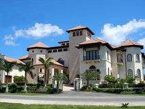 Grand home on Grand Cayman Royalty Free Stock Images