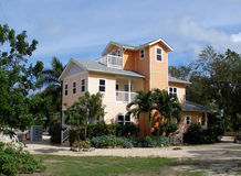 Grand home on Grand Cayman. A beautiful home on the Caribbean island of Grand Cayman Stock Images