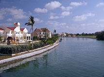 Grand Homes Along The Water On Grand Cayman Royalty Free Stock Images