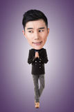 Grand homme principal asiatique drôle photos stock