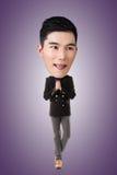 Grand homme principal asiatique drôle image libre de droits