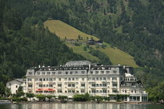 Grand Hotel. In Zell Am See in Austrian Alps Stock Images