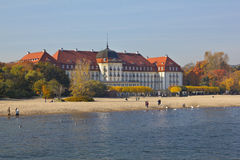 Grand Hotel on the Baltic Sea, Poland Royalty Free Stock Images