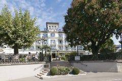 Grand Hotel du Lac, Vevey, Switzerland stock image