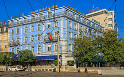 Grand Hotel Euler building in Basel, Switzerlnd stock photos