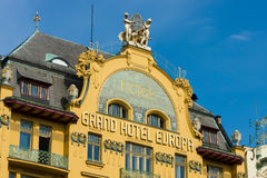 Grand Hotel Europa in the center of Prague Royalty Free Stock Photos