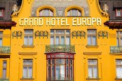 Grand Hotel Europa in Prague Stock Photos