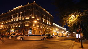 The Grand Hotel Europe and limousine stock video footage