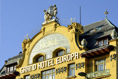 Grand Hotel Europe in Prague - Czech Republic Stock Photo