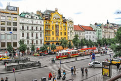 The Grand Hotel Europe in Prague. Stock Photo
