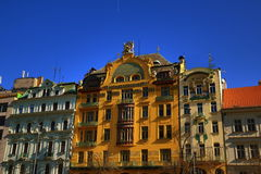 Grand hotel Evropa, the architecture of the old houses, Wenceslas Square, Prague, Czech Republic Stock Image