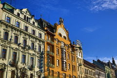 Grand Hotel Evropa, Old Buildings, Wenceslav Square, New Town, Prague, Czech Republic Royalty Free Stock Photos