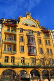 Grand Hotel Evropa, Old Buildings, Wenceslav Square, New Town, Prague, Czech Republic Stock Photo
