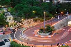 Grand Hotel hairpin in Monaco Stock Image