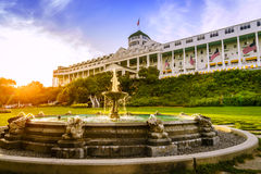 Grand Hotel. Mackinac Island, Michigan, August 8, 2016: Grand Hotel on Mackinac Island, Michigan. The hotel was built in 1887 and designated as a State Stock Photo