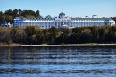 The Grand Hotel. On Mackinac Island, Michigan. A popular tourist place stock photos