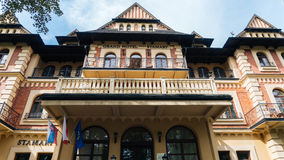 Grand Hotel Stamary Offers 53 Rooms. ZAKOPANE, POLAND - SEP 2, 2016: Pension Stamary built in 1904 by architect Eugeniusz Wesolowski, since 2005 after renovation Royalty Free Stock Photos